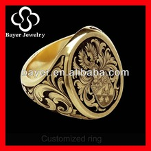 china factory direct wholesale copper masonic ring with deep engraving