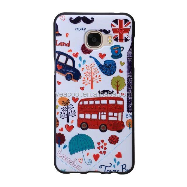 Multi Design 3D Phone Soft TPU Case Cover for Samsung Galaxy C7 C7100
