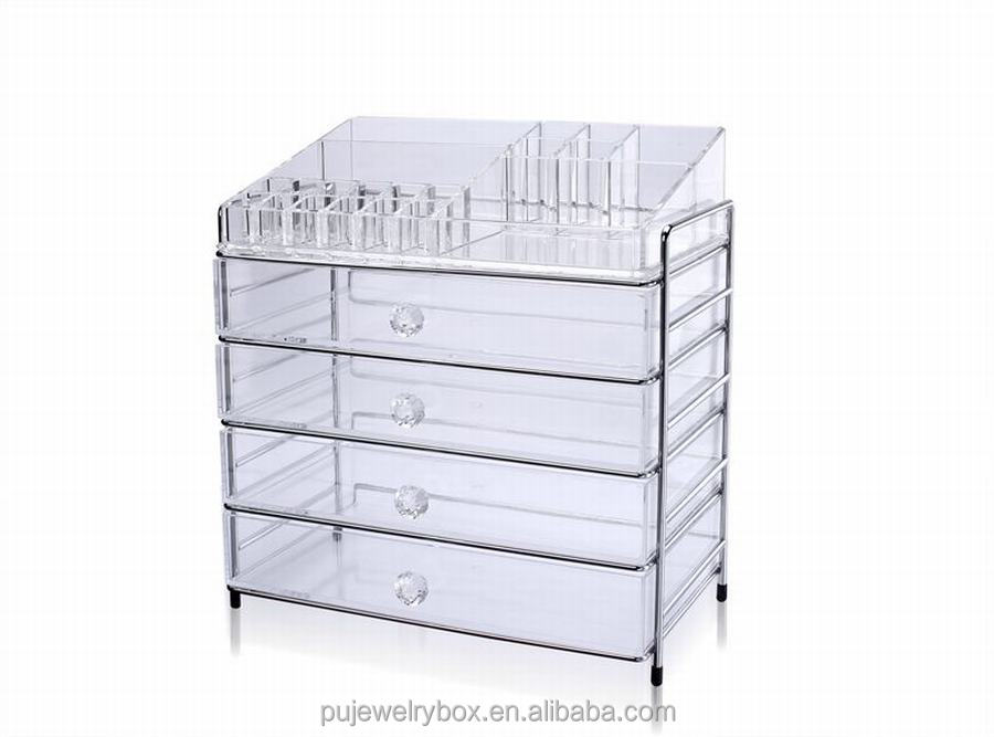 Wholesale 3 Drawer Acrylic Makeup Cosmetic Storage