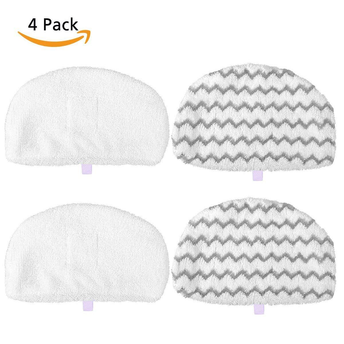 MarlaMall 4 Pack Washable Steam Mop Pads Replacement for Bissell Powerfresh 1940 Series, 1544A, 2075A, 1440, 1940W, 19404, 1806, 1940A, 5938, 19408, 1940Q