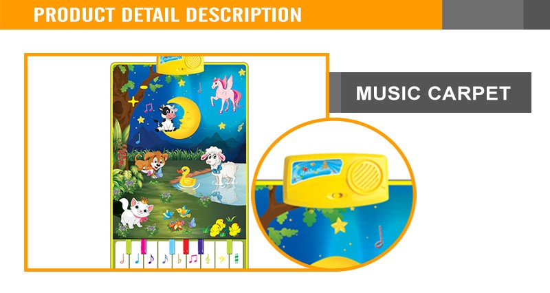 Funny Kids Play Music Mat Piano musical carpet music Mat