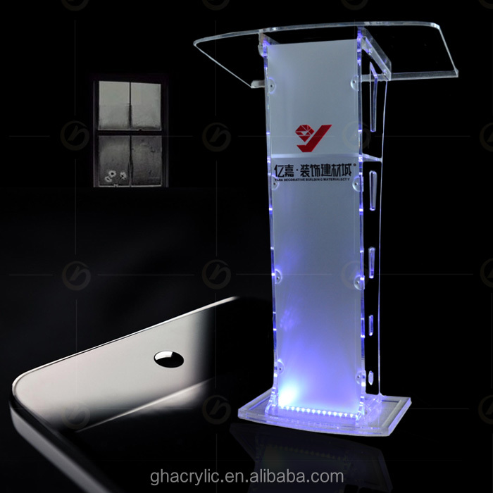 Yz-0024 2017 New Design Glass Modern Smartness Clear Podium For ...