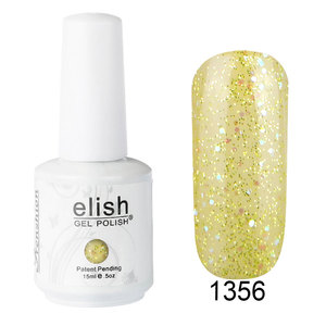 Gel nail polish glitter shimmer gold soak off UV LED gel for nail studio