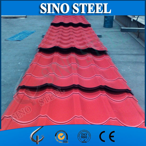 Trade Assurance RAL9006CGCC Prepainted galvanized steel roofing tiles