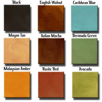 Acid Stains Concrete Stain Sample Kit 9 Colors