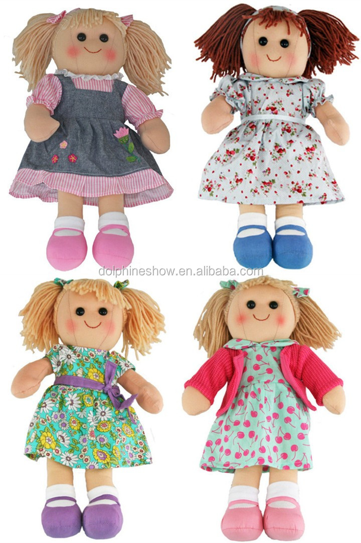 fashion stuffed dress up baby rag doll toy for kid