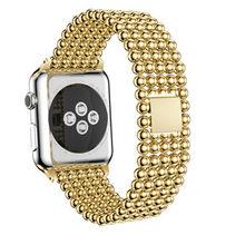 Ремешок для часов из нержавеющей стали для Apple Watch 5, 4, 3, 2, 38, 42 мм, 1, 2, 3, 4, женский ремешок, практичный, очаровательный, iWatch 4, 3(Китай)