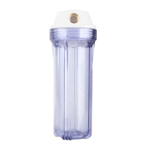 10 Inch Transparent Plastic Filter Housing Copper Mouth for Water Filter