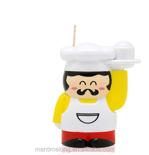 Creative chef shape automatic Toothpick Holder Toothpick Box