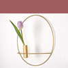Gold wall ring candlestick large flower arrangement hanging wall candlestick