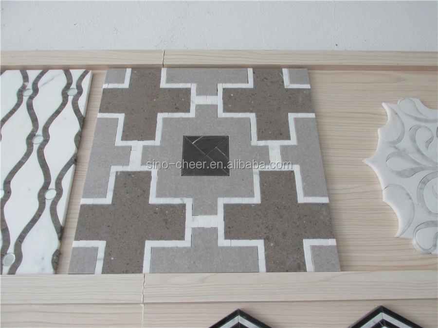 Kiezel Mozaiek Badkamer : Wit marmeren kleine zeshoekige mozaïek tegel voor badkamer keuken