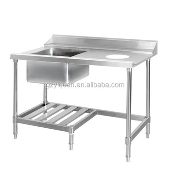 Multipurpose Stainless Steel Work Table With Kitchen Sink Under - Stainless steel work table with sink