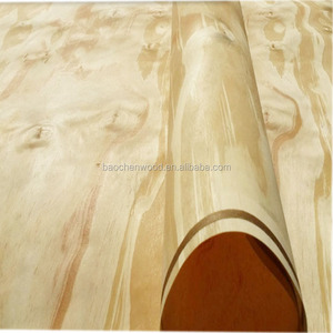 Natural Rotary cutting Radiate pine wooden veneer 0.6mm Thickness