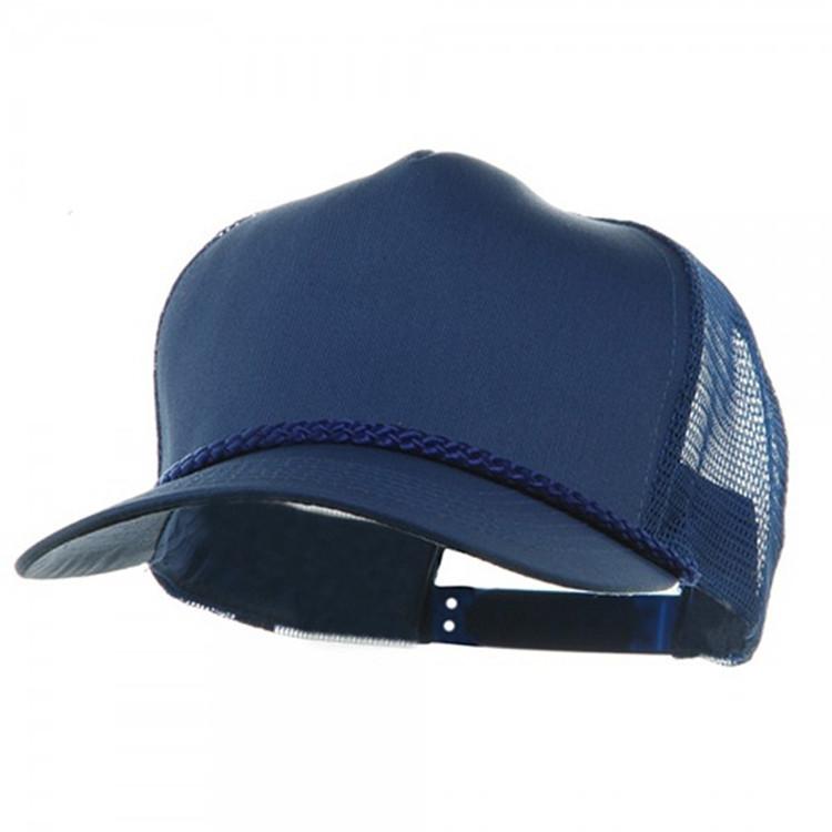5cb707e7 Custom foam mesh Trucker cap 5 Panel blank polyester rope trucker hats,  View rope trucker hats, D Crown Product Details from Xingtai Dingguan  Trading Co., ...