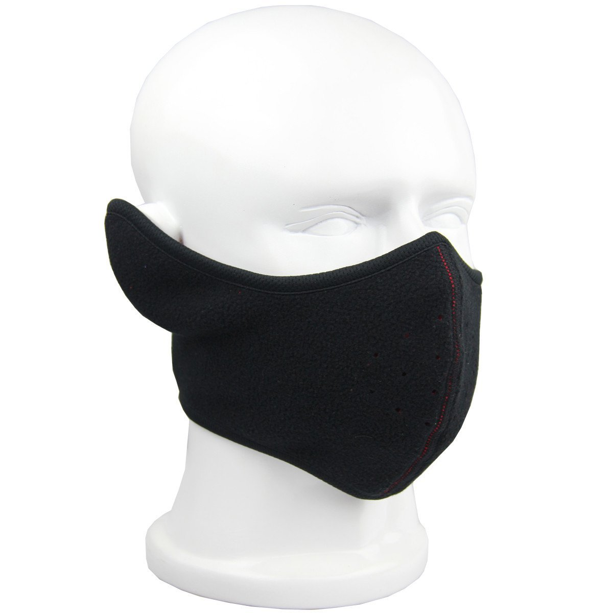 ECYC Reversible Breathable Fleece Ear Nose Warmer Half Face Mask Facemask Facial Mask