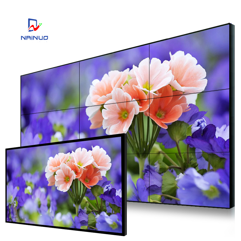 lcd splicing multi panel tv wall touch screen 2*3 transparent lcd display