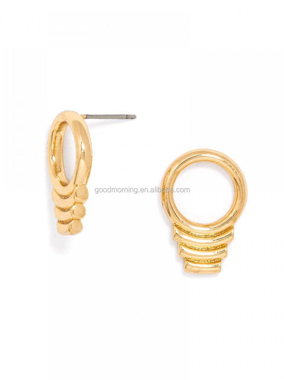 16mm Half Pearl Monogram Blanks Stud Earring