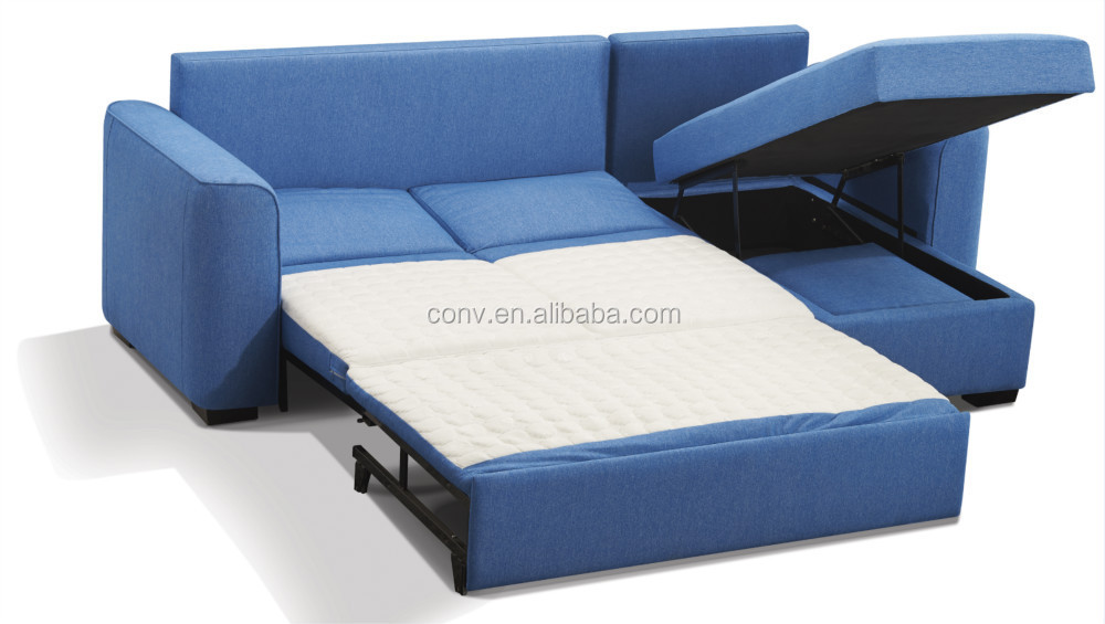 Space saving furniture wooden l shape sofa bed with for Sofa bed hotel