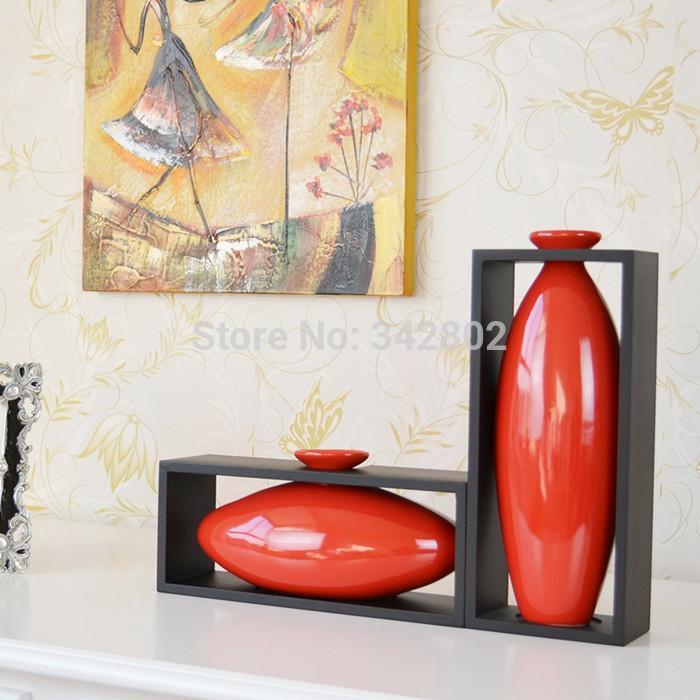 Modern Ceramic Vases For Home Decor Red Color-in Vases