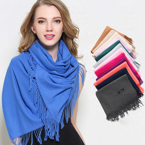 New Solid Color Unisex Thick Warm Pashmina Shawl 100% Cashmere Winter Scarf