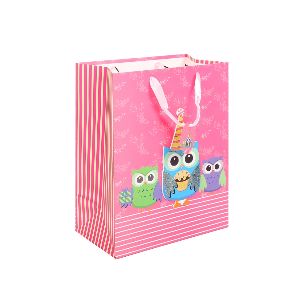 2019 Luxury Foldable Colorful Handmade Pink Wine Gift Package Paper Gift Bag With Handle