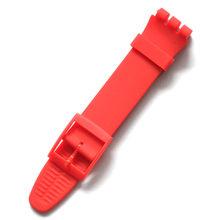 Многоцветные ремешки для часов из силиконовой резины 17 мм 19 мм для мужчин и женщин, ремешок для часов с пластиковой пряжкой черного, белого, ...(Китай)