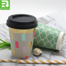 2017 Factory direct sale custom logo printed hot coffee paper cup