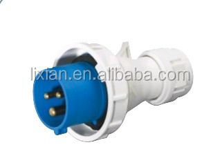 phase inverter / male ip67 3 Pins 16a 32a 3p yellow blue industrial plug socket waterproof Alibaba china LX-0132 Manufacture