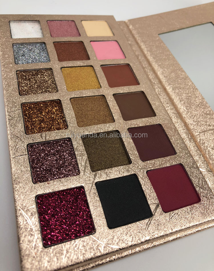 Custom Your Own Logo Private Label 18 Color Cardboard Eyeshadow Palette Wholesale Cosmetics