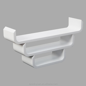 Popular design different color U shape set 3 mdf cd wall display rack from factory