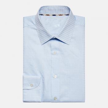 675fd3569e9c5 High Quality Made To Measure Men s Classic Fitted Sky Blue Dress Shirt For  Men - Buy High Quality Mens Shirt