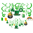 XL025 30 Pcs St Patrick'S Day Party Hanging Foil Swirls Banner