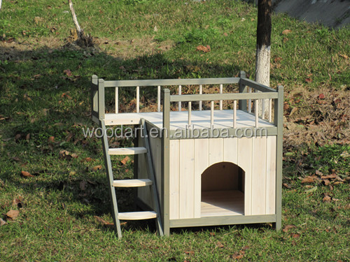 Cheap Indoor and outdoor Wooden Cat House pet show cage
