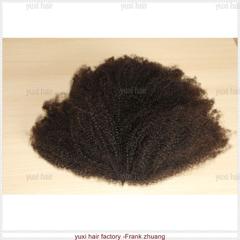 Mongolian hair kinky curly wig for black women