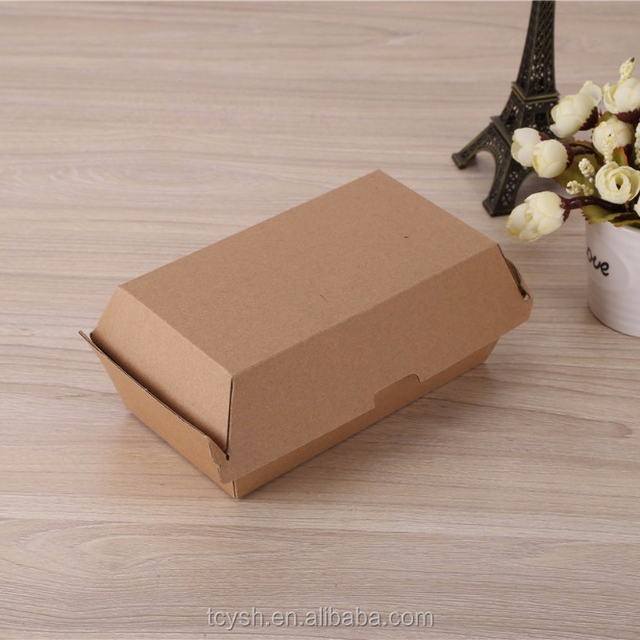 Eco-friendly Fast Food Paper Packaging Box/eco friendly box/brown box packaging