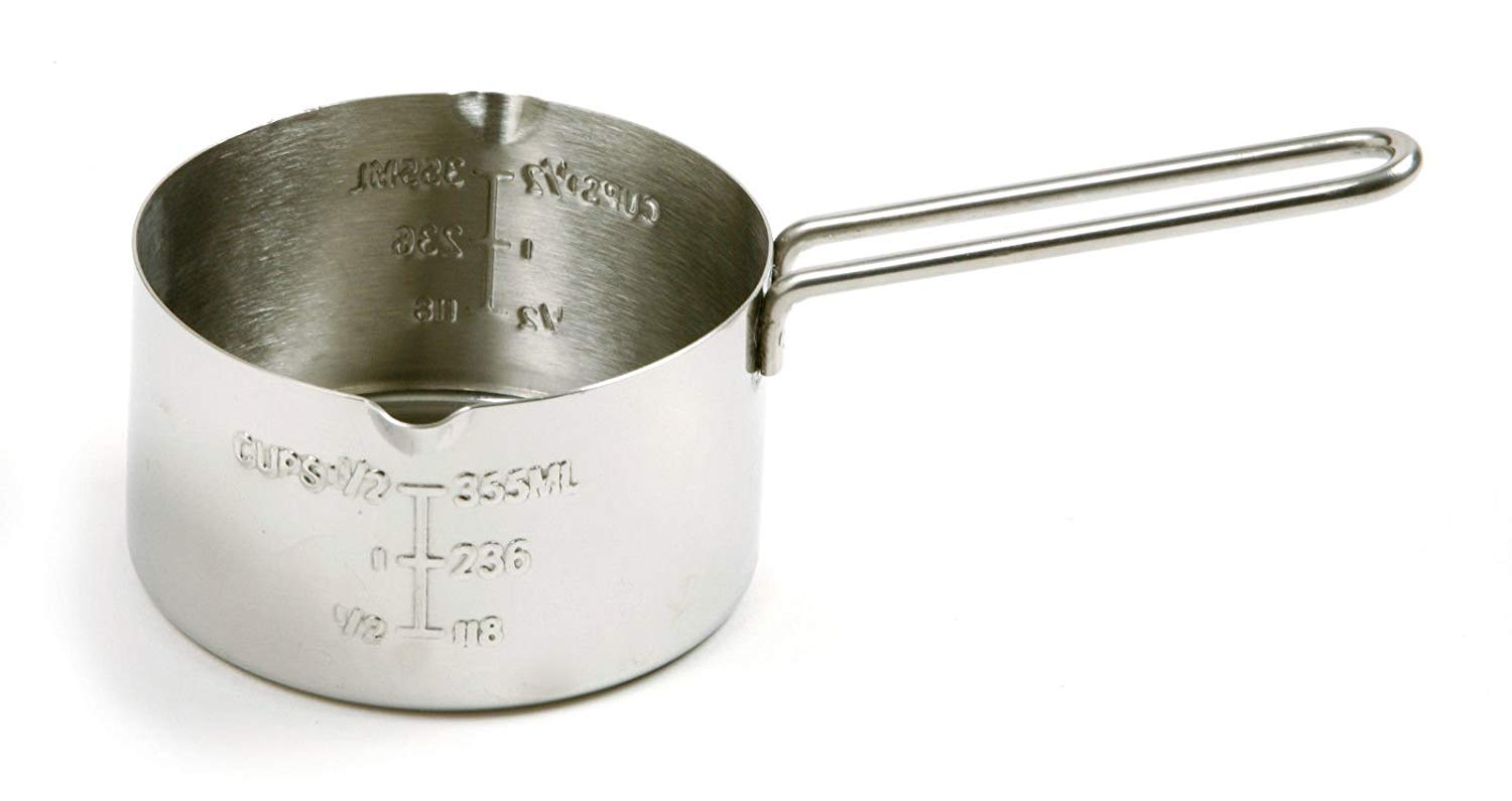 NORPRO 3058 Measuring Cup, 2 Cup 18/10 Stainless Steel NEW