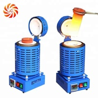 220V 4kg Small Electric Metal Melting Furnace for Gold Silver Copper