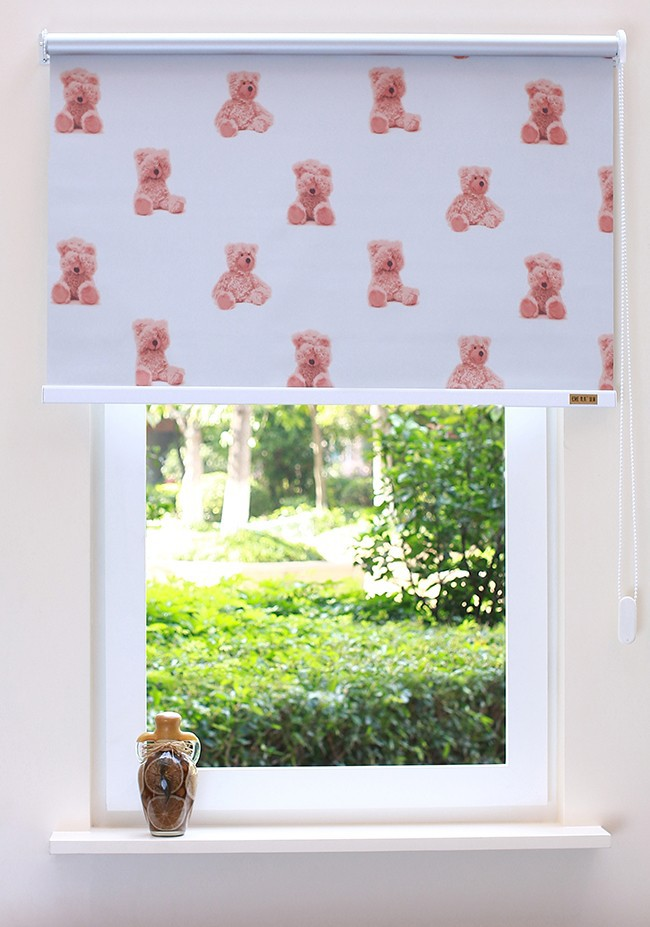 Lovely cartoon roller blinds custom for baby room