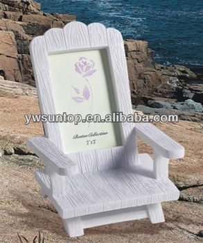 U0026quot;Beach Memoriesu0026quot; Miniature Adirondack Chair Place Card/Photo ...