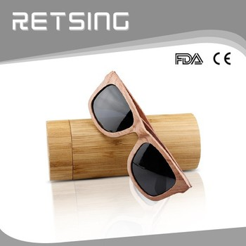 High Quality Tube Wood Glasses Case,Bamboo Wood Color Personalized ...