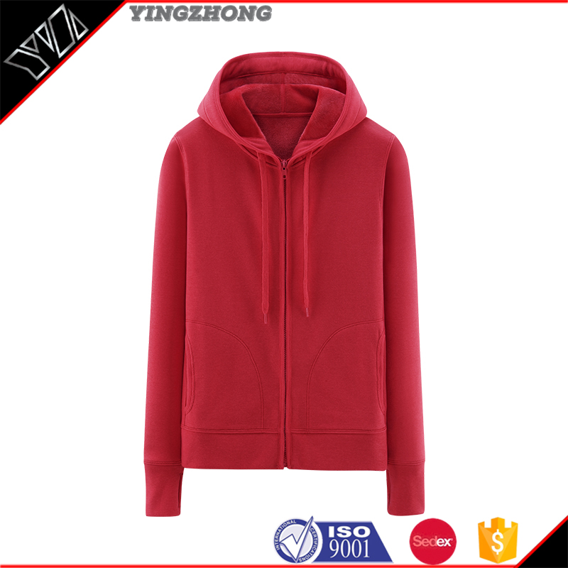 Add flocking to thicken the fleece women long sleeve hooded cardigan leisure zipper hooded jacket coat coat