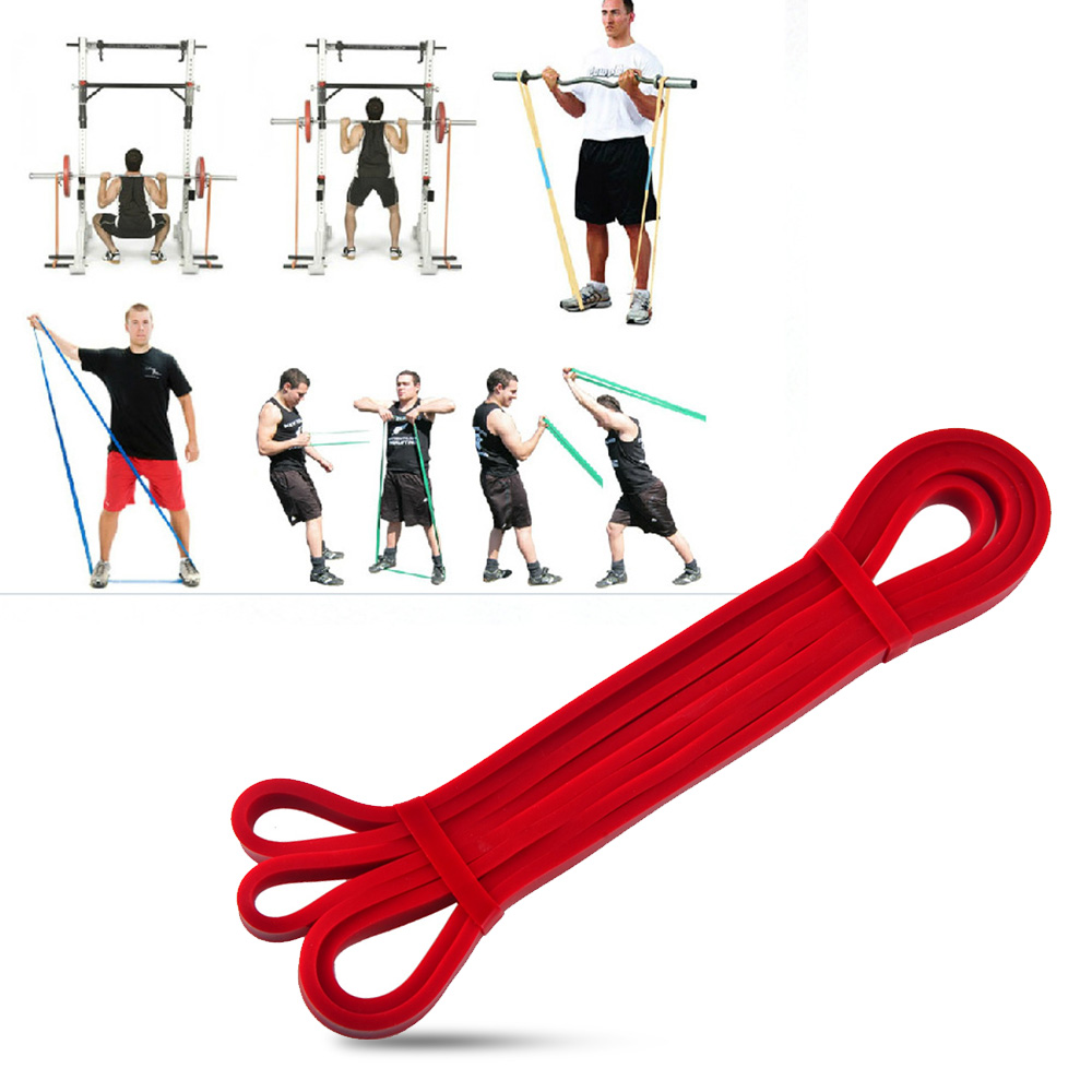 US $6 82 16% OFF|Latex Crossfit Resistance Bands Gym Fitness Power Training  Expander Powerlifting Home Workout Equipment Trainers Bar Belt-in
