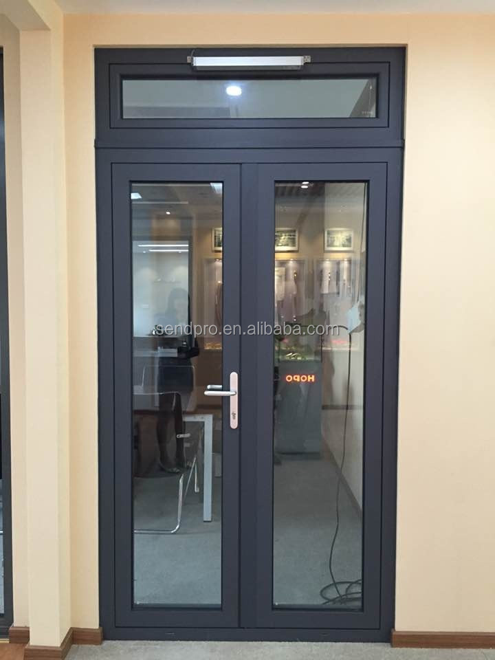 Exterior Double Glazed Side Hung Aluminum French Door