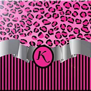 Rikki Knight 12 x 12 Letter U Red Leopard Print Monogrammed Design Ceramic Art Tile
