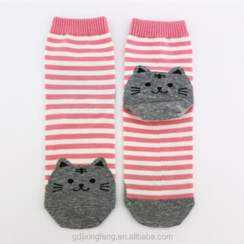 02fddac5b6a8 Wholesale Custom Cute Teen Girls Socks Cat Socks Strip Socks - Buy ...