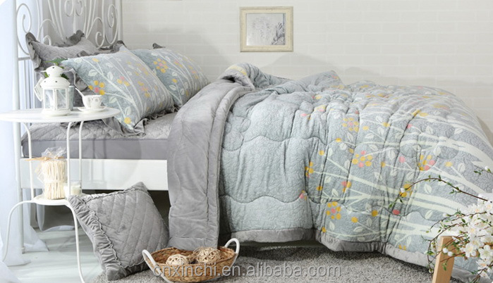 Short Plush Quilting Bedding dubai comforter set