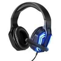 New fashion led lights noise cancelling big earcups adjustable soft gaming headset microphone for computer