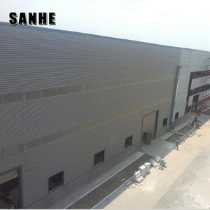 Light steel structure prefab grain warehouse for lease