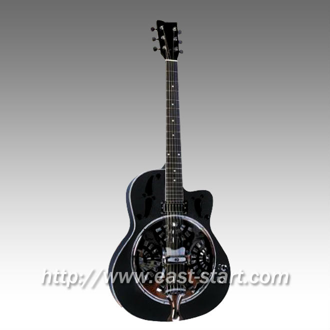 Electric Round Neck Cutaway Dobro Acoustic Resonator Guitar