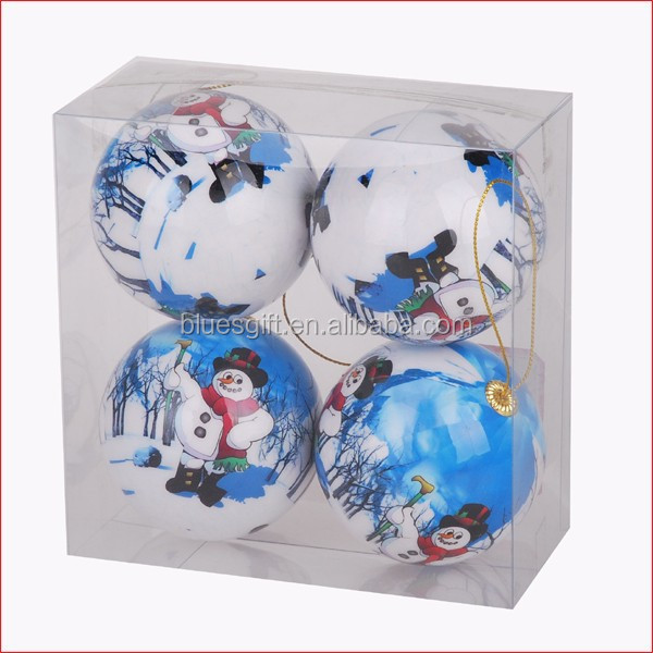 2015 new design christmas tree decoration with 7cm diameter balls